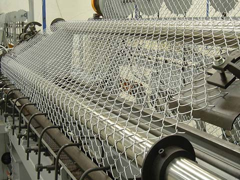 Galvanized Chain Link Fence Production