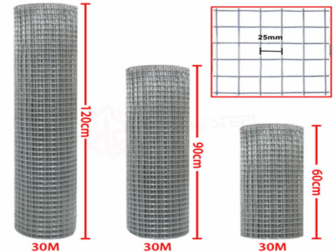 GI Wire Mesh Size